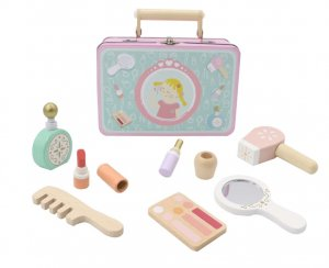 WOODEN BEAUTY PLAYSET IN TIN CASE
