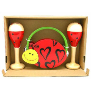 LADYBIRD MARACA AND TAMBOURINE SET