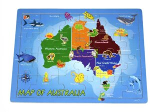 New Australia Map Jigsaw Puzzle