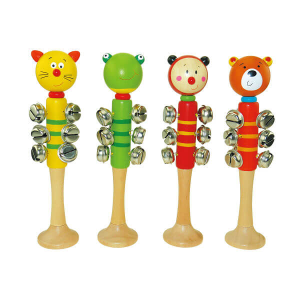 HAPPY ANIMALS WOODEN BELLSTICK
