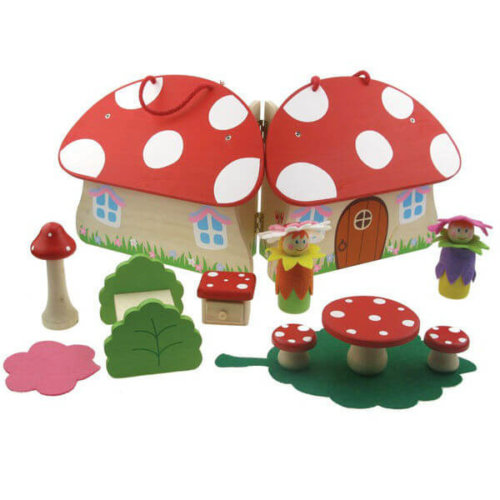 FAIRY TOADSTOOL HOUSE WOODEN PLAYSET