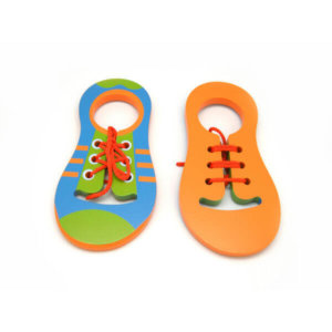 KAPER KIDZ WOODEN LEARN TO TIE SHOELACE