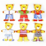 DRESS UP BEAR WOODEN PUZZLE