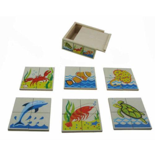 KAPER KIDZ SEA ANIMALS WOODEN PUZZLE BOX