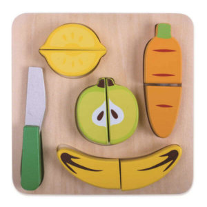 WOODEN FRUIT CUTTING PLAYSET