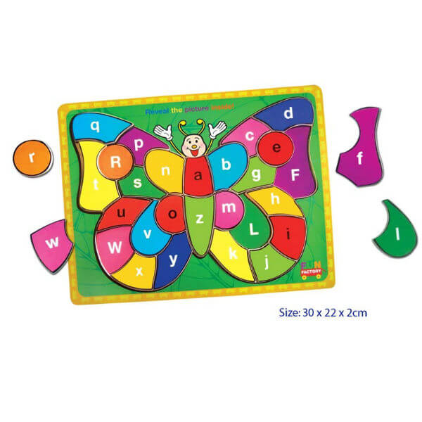 BUTTERFLY RAISED WOODEN TRAY PUZZLE