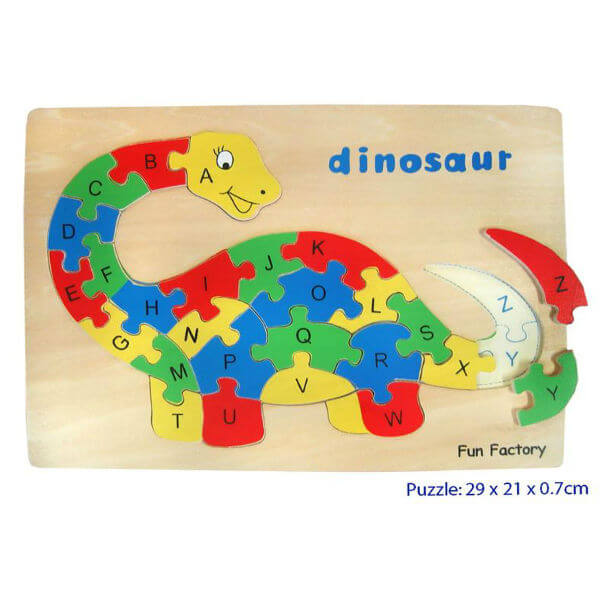DINOSAUR RAISED WOODEN TRAY PUZZLE