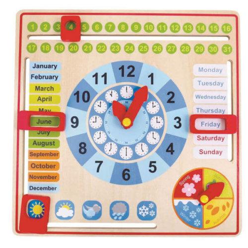 MY WOODEN CLOCK CALENDAR