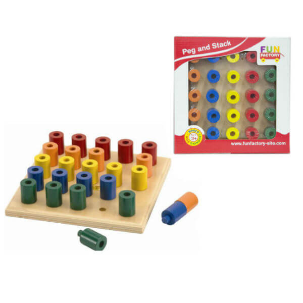 WOODEN PEG AND STACK BOARD