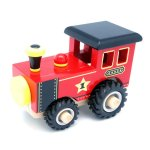 WOODEN TRAIN WITH RUBBER WHEELS
