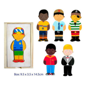 DRESS UP BOY WOODEN PUZZLE