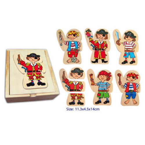DRESS UP PIRATE PUZZLE IN WOODEN BOX
