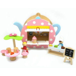 LITTLE WOODEN TEAPOT PLAYSET
