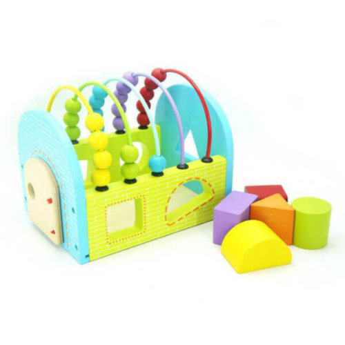 SHAPE SORTING HOUSE WITH ABACUS BEADS