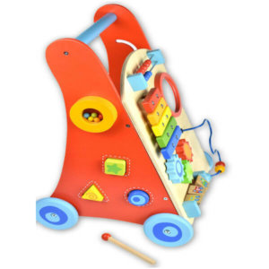WOODEN BABY WALKER WITH XYLOPHONE
