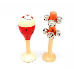 SMALL LADYBIRD MARACA AND BELL STICK SET