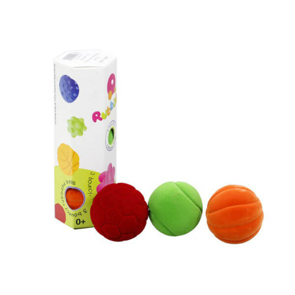 SET OF 3 RUBBABU BOUNCY BALLS