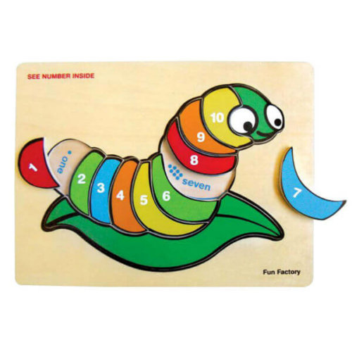 SILK WORM RAISED WOODEN TRAY PUZZLE