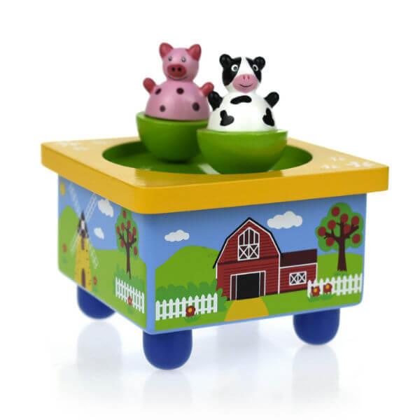 FARM WOODEN MUSIC BOX