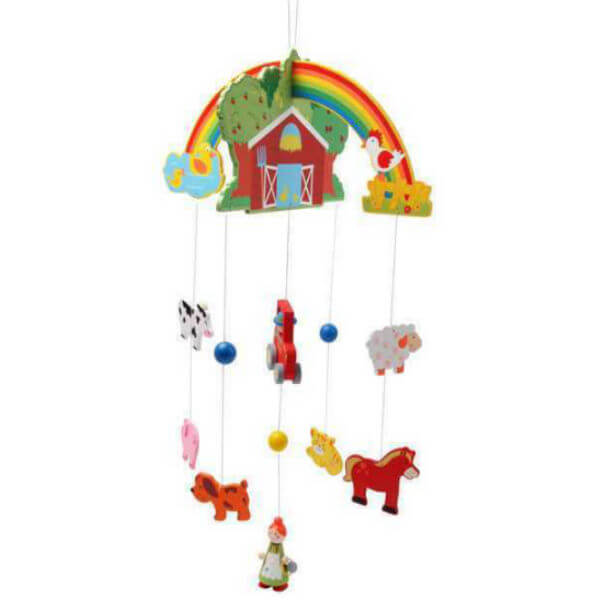 WOODEN FARM NURSERY MOBILE