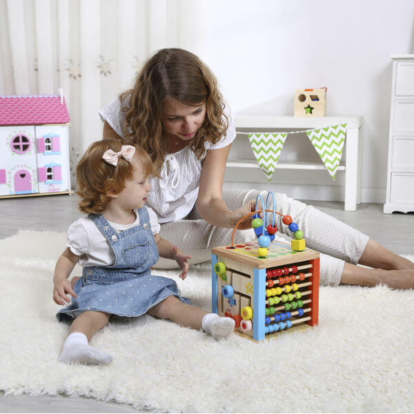 5 IN 1 WOODEN ACTIVITY CUBE