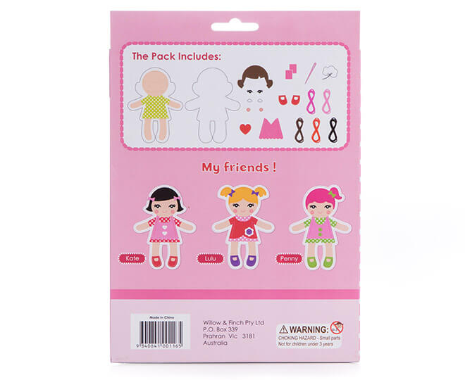 AVA PILLOW DOLL CRAFT KIT