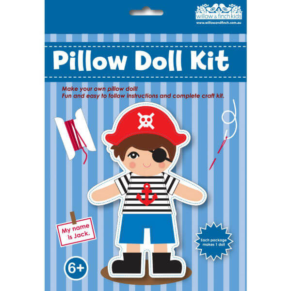 PIRATE JACK PILLOW DOLL CRAFT KIT