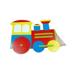 SMALL WOODEN TRAIN PLAQUE