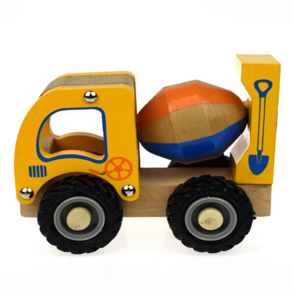 WOODEN CEMENT MIXER TRUCK WITH RUBBER WHEELS