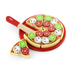 WOODEN PIZZA ON TRAY