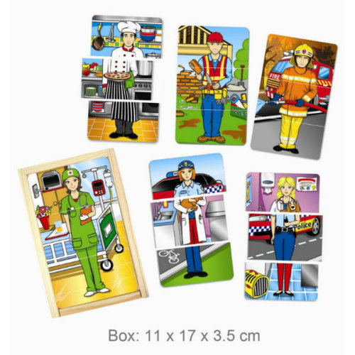 MY FAVOURITE PROFESSIONS WOODEN PUZZLE BOX