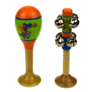 SMALL DRAGON MARACA AND BELL STICK SET