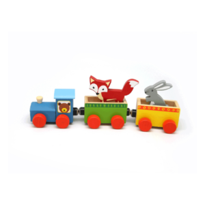 MAGNETIC WOODEN ANIMAL TRAIN