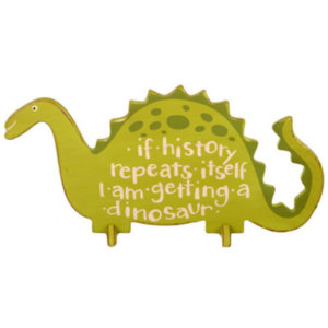 DINOSAUR STAND UP WOODEN PLAQUE
