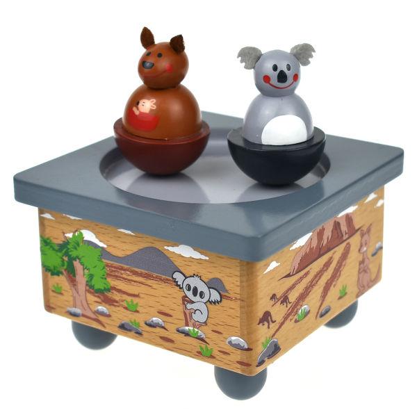 KOALA AND KANGAROO MUSIC BOX