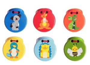 Aussie Bunch Castanet 6 Fun Designs