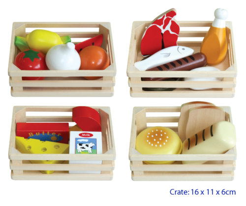 Wooden Food Box 4 in 1
