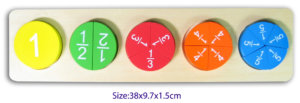 Wooden Puzzle Fraction Game