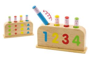 Fun Factory Pop Up Wooden Toy W/4 Figures