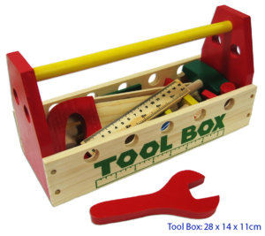 TOOL BOX W/WOODEN TOOLS