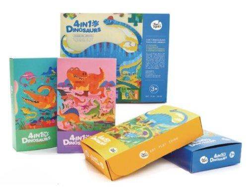 4 in 1 Dinosaur Puzzle and Luminous