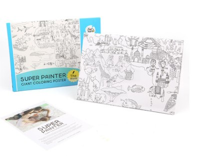 Giant Colouring Poster Pads The World