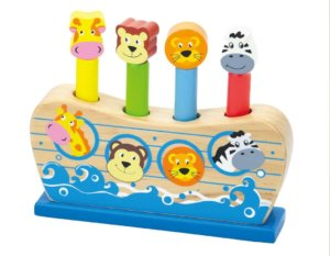 NOAH'S ARK WOODEN POP UP TOY