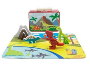 Dinosaur Playset in a tin case