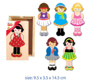 DRESS UP GIRL WOODEN PUZZLE