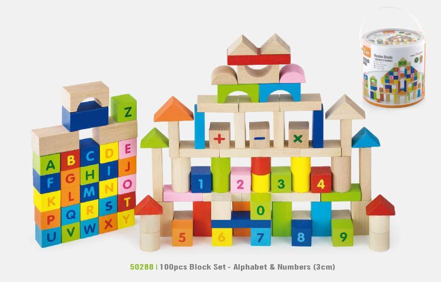 100 Piece Alphabet and Numbers Blocks