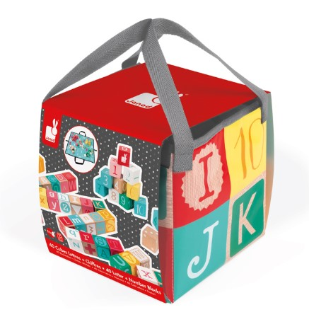 40 Letter and Number blocks in a bag