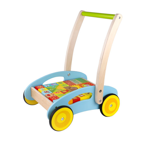 BABY WALKER WITH BLOCKS - FOREST THEME