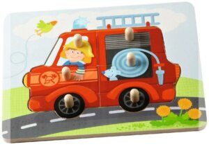 Haba Peg Puzzle Fire Truck