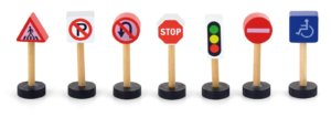 Viga Wooden traffic signs